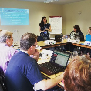 Laura discussing how to make your Facebook page successful and professional!