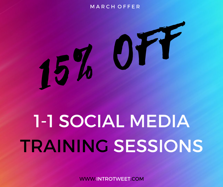 15% Off Our Social Media Training Sessions Throughout March!